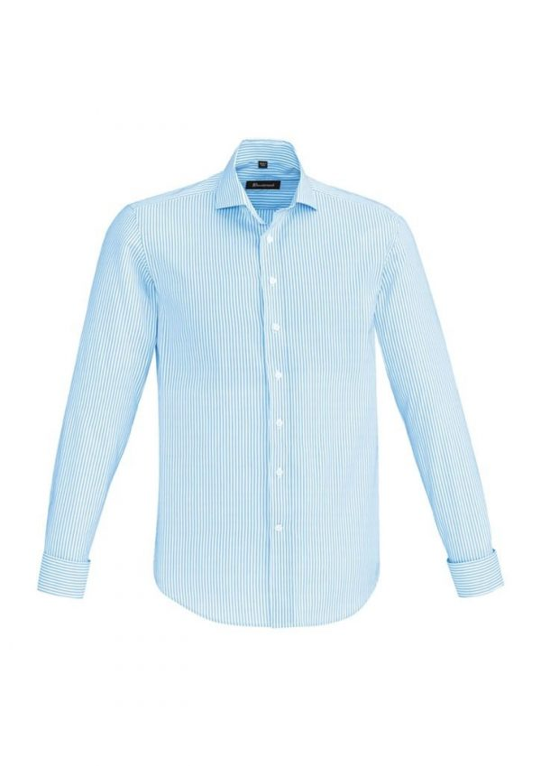 Mens Vermont Long Sleeve Shirt Alaskan Blue