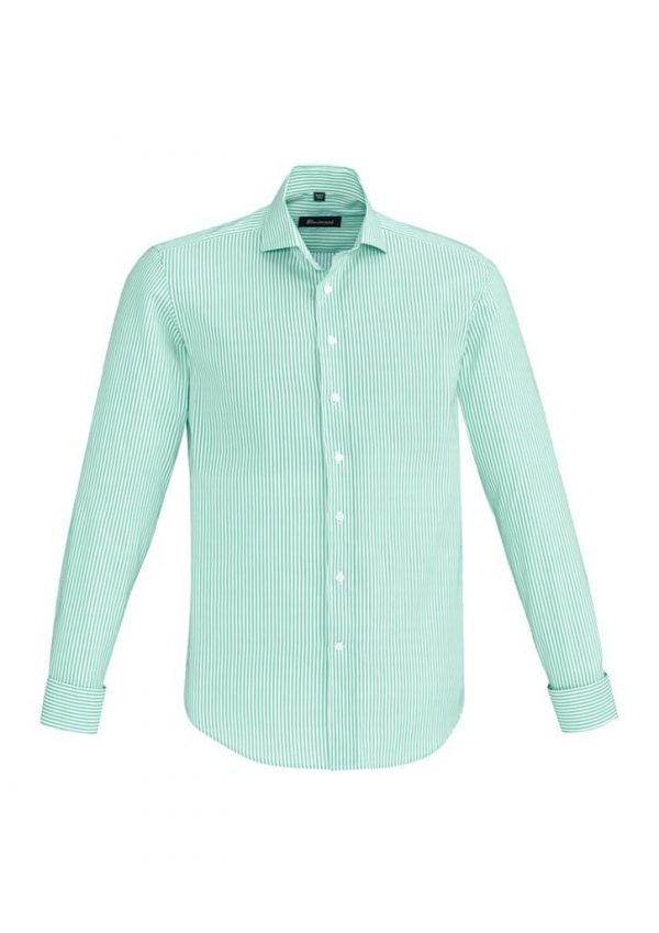 Mens Vermont Long Sleeve Shirt Dynasty Green
