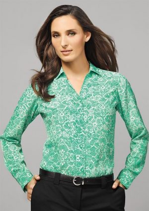 Ladies Solanda Long Sleeve Print Shirt