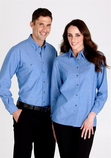 Wrinkle free chambray