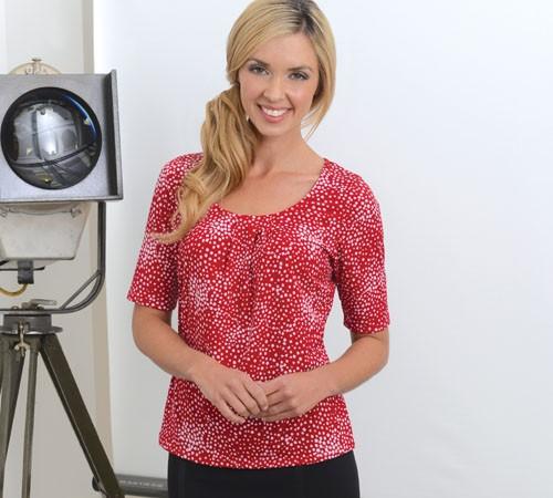 Ladies 1/2 Sleeve Printed Jersey
