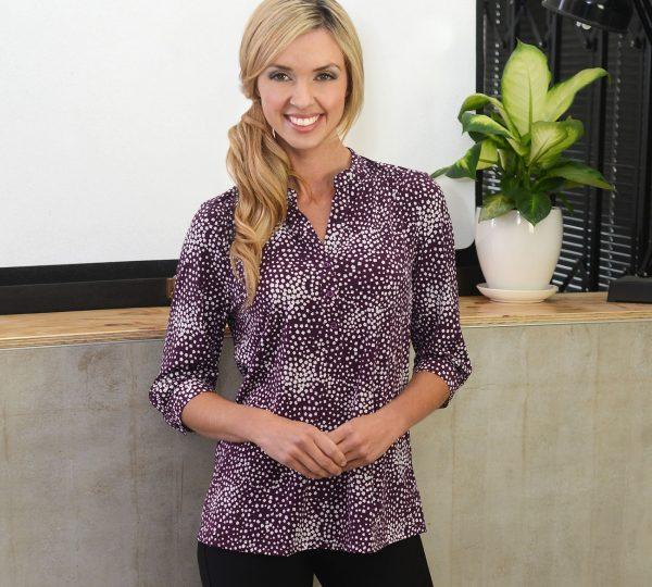 Ladies 3/4 Sleeve Printed Jersey