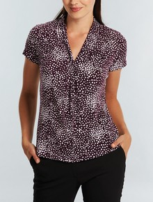 Ladies Short Sleeve Printed Jersey