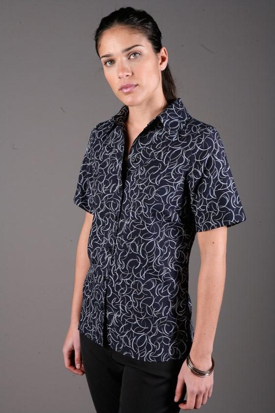 Breez Print Ladies Shirt Short sleeve 1