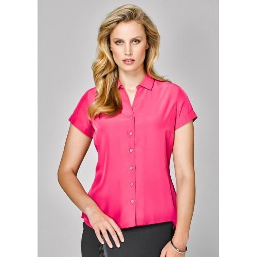 Ladies Solanda Short Sleeve Plain Shirt