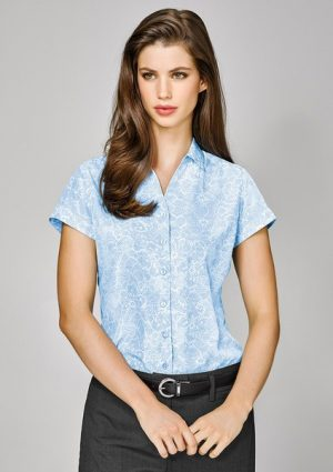 Ladies Solanda Short Sleeve Print Shirt