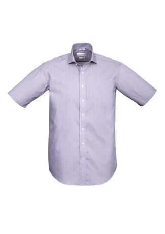 Mens Calais Short Sleeve Shirt Purple Reign