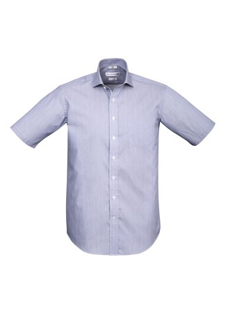 Mens Calais Short Sleeve Shirt Turkish Blue