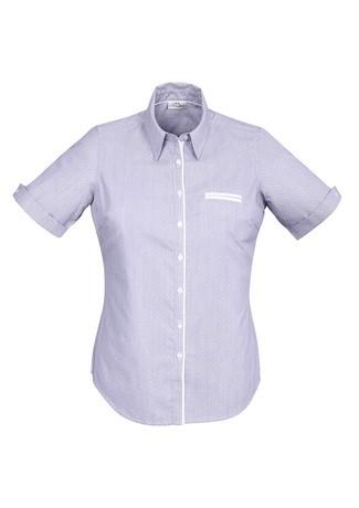 Ladies Calais Short Sleeve Shirt Purple Reign