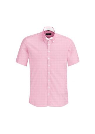 Mens Fifth Avenue Short Sleeve Shirt Melon