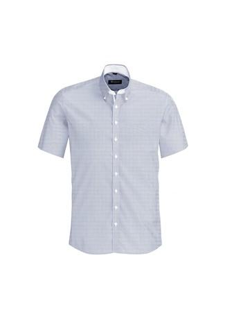 Mens Fifth Avenue Short Sleeve Shirt Patriot Blue