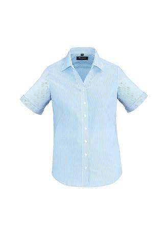 Ladies Vermont Short Sleeve Shirt Alaskan Blue