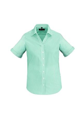 Ladies Vermont Short Sleeve Shirt Dynasty Green
