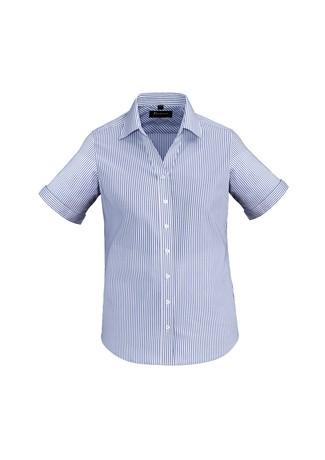 Ladies Vermont Short Sleeve Shirt Patriot Blue