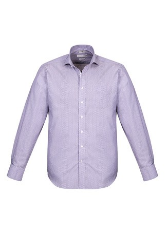 Mens Calais Long Sleeve Shirt Purple Reign