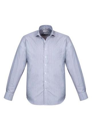 Mens Calais Long Sleeve Shirt Turkish Blue