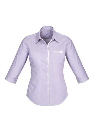Ladies Calais 3/4 Sleeve Shirt Purple Reign