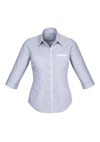Ladies Calais 3/4 Sleeve Shirt Turkish Blue