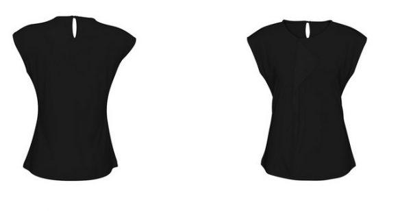 Ladies Mia Pleat Knit Top Black