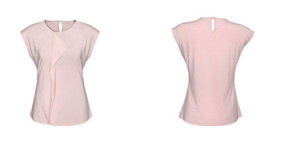 Ladies Mia Pleat Knit Top Blush Pink