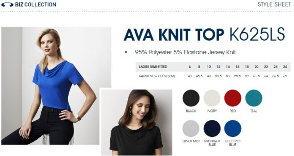 Ladies Ava Drape Knit Top