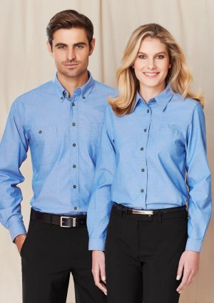 Wrinkle free Chambray Ladies Shirt