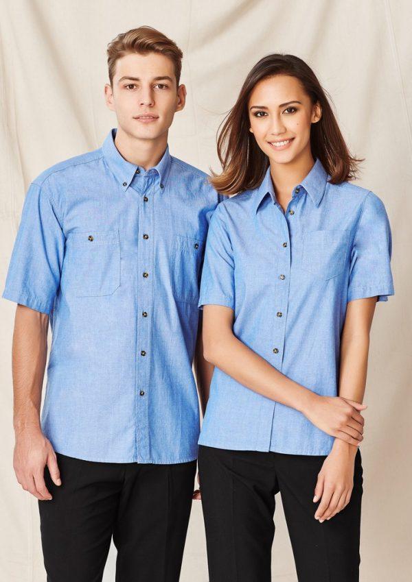 Wrinkle free Chambray Ladies Shirt