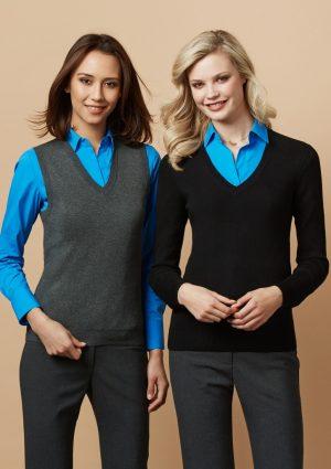 V-neck Ladies knit vest