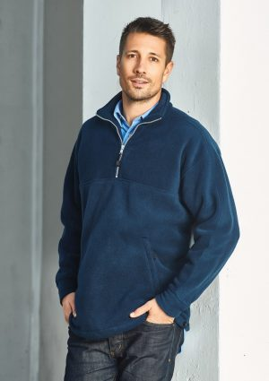 Heavy weight Mens 1/2 zip fleece