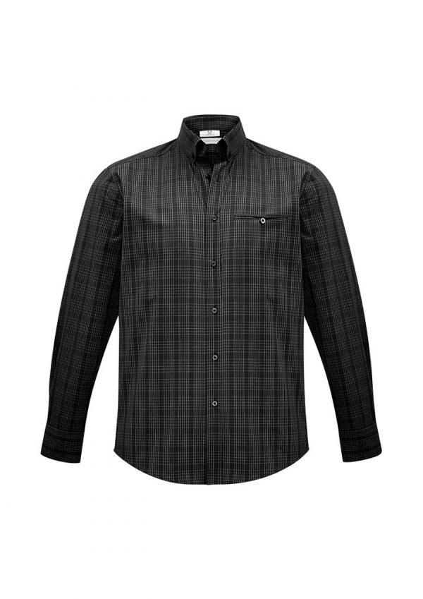 Harper Mens Shirt Black/ Silver