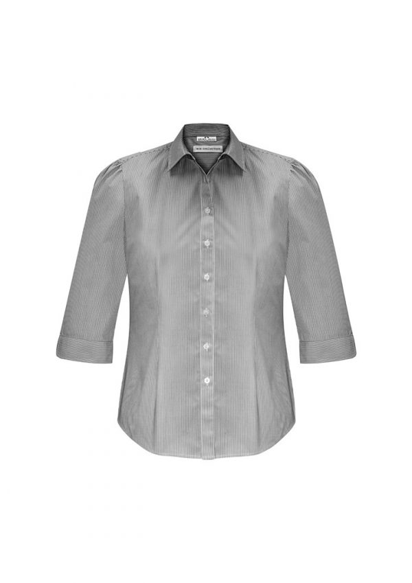 Ladies Euro 3/4 Sleeve Shirt Black