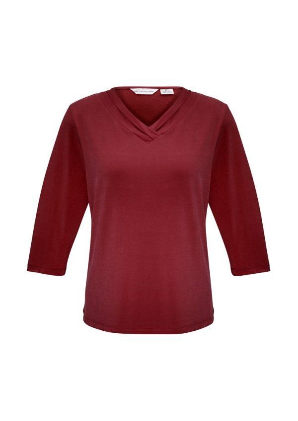 Ladies Lana 3/4 Shirt Cherry