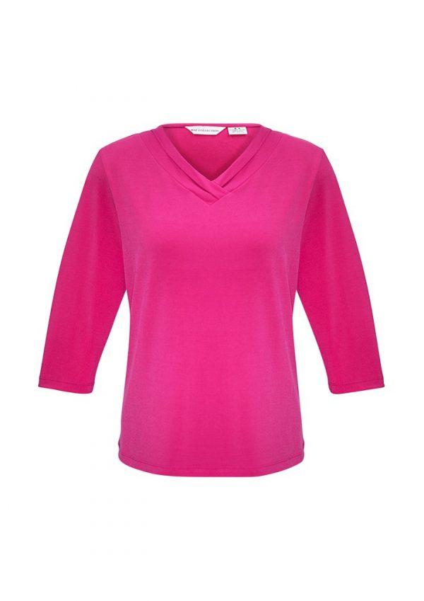 Ladies Lana 3/4 Shirt Fuchsia