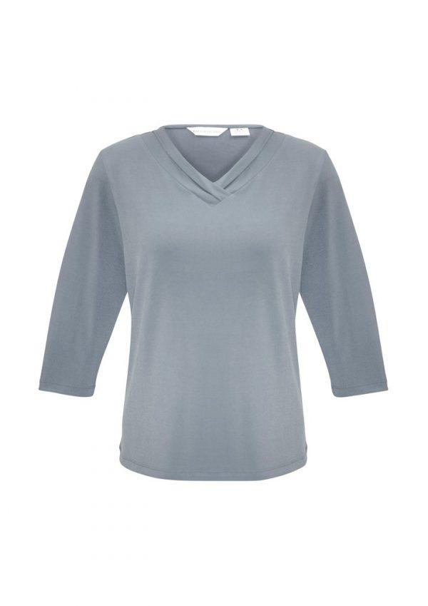Ladies Lana 3/4 Shirt Silver
