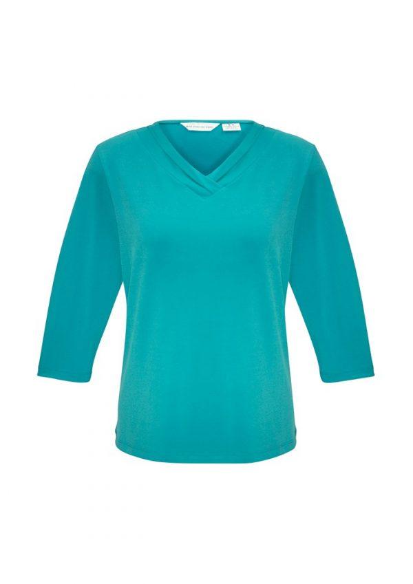 Ladies Lana 3/4 Shirt Turquoise