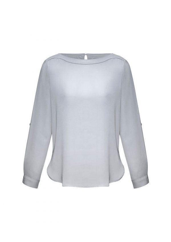 Madison Ladies Shirt Silver Mist