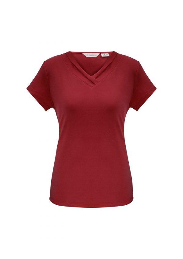 Ladies Lana Shirt Sleeve Shirt Cherry