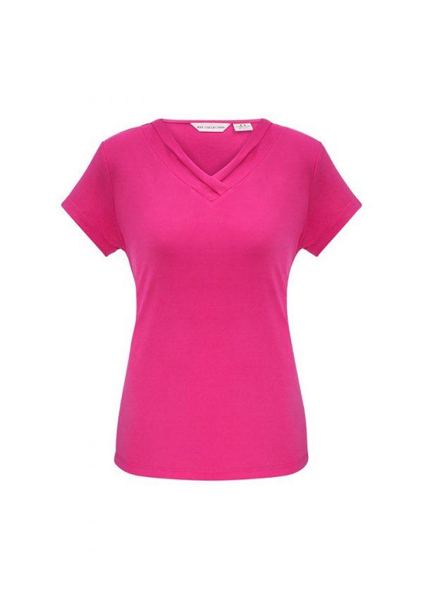 Ladies Lana Shirt Sleeve Shirt Fuchsia