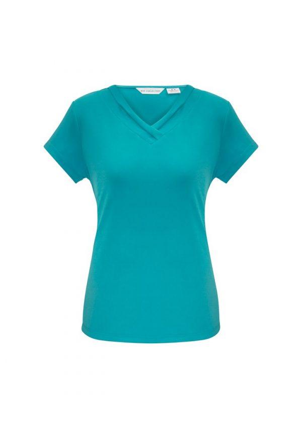 Ladies Lana Shirt Sleeve Shirt Turqouise
