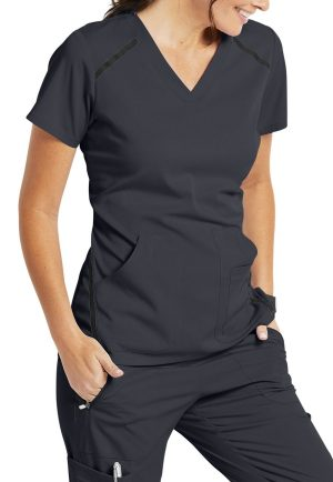 7188 Scrub Top Steel