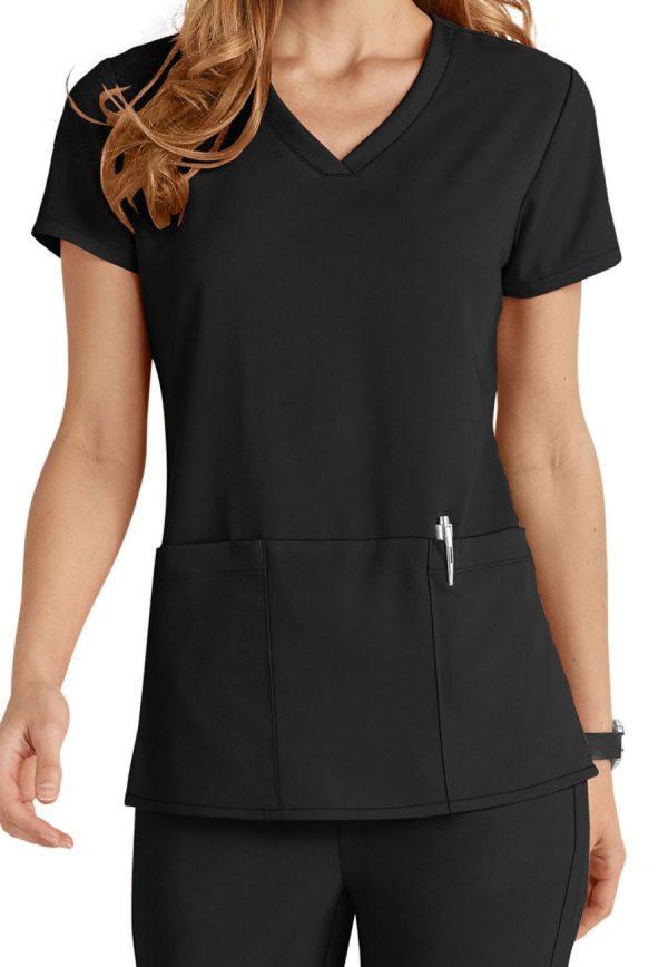 Grey's Anatomy Signature Scrub Top Black