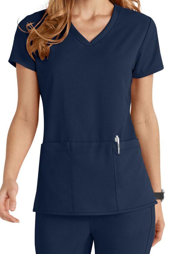 Grey's Anatomy Signature Scrub Top Indigo