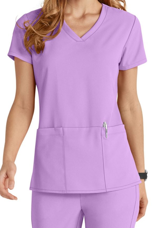 Grey's Anatomy Signature Scrub Top Violet Haze