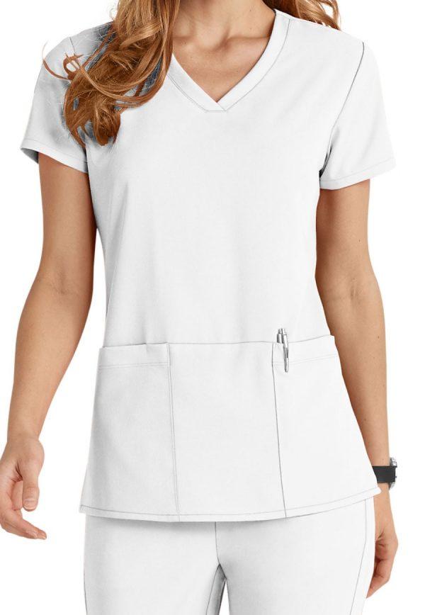 Grey's Anatomy Signature Scrub Top White