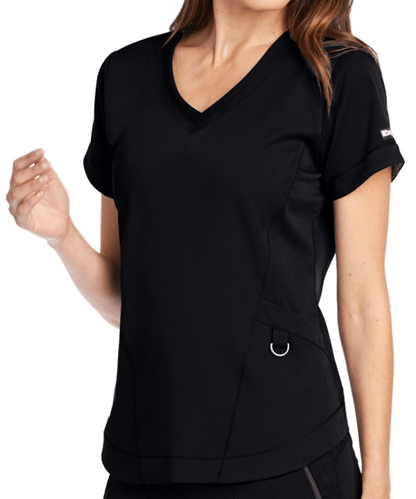 Impact Ladies Scrub Top Black