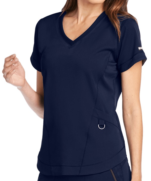 Impact Ladies Scrub Top Black Indigo