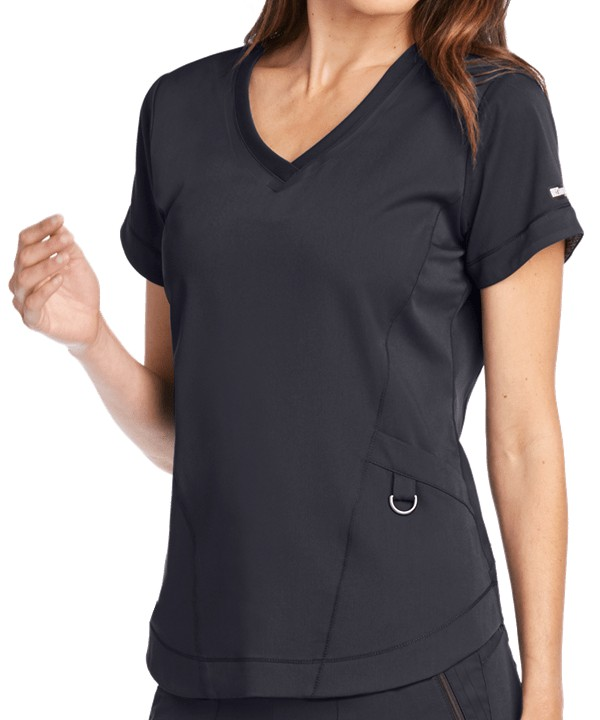 Impact Ladies Scrub Top Steel