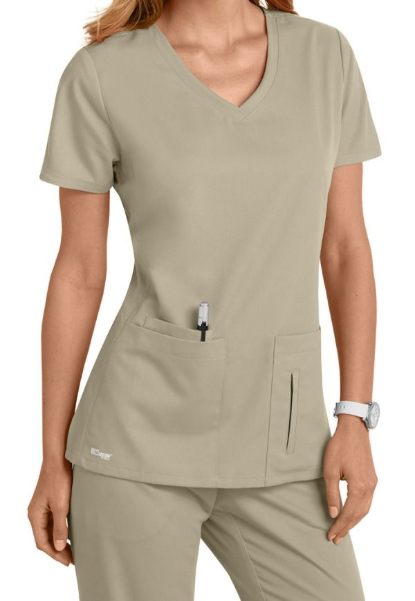 Grey's Anatomy Active Scrub Top Khaki