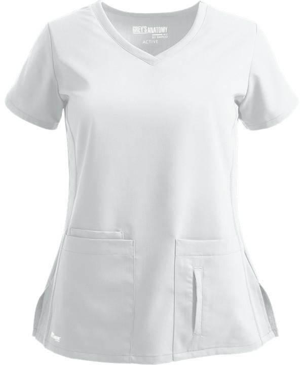 Grey's Anatomy Active Scrub Top White