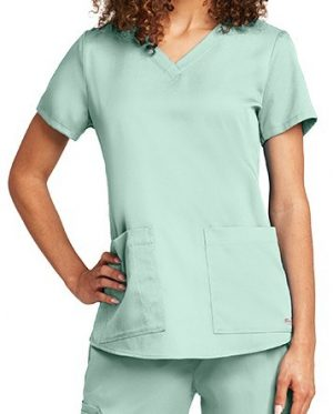 Grey's Anatomy Scrub Top Aqua Mist